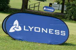 The main tournament sponsor: Lyoness. - Frassanelle Open