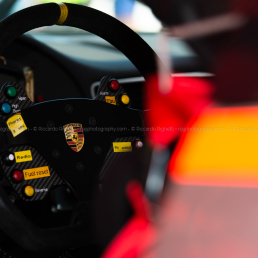 Porsche steering wheel - Creventic 12H Imola 2018